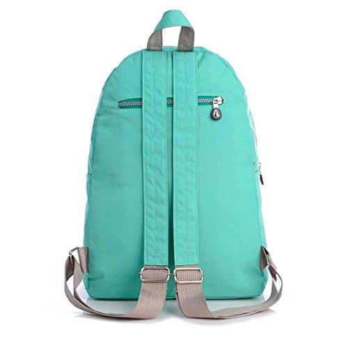 Ularma Nylon Rucksack Doppel-Schulter Wanderrucksack Einfach unisex Wasserdicht Schultasche (schwarz) grün