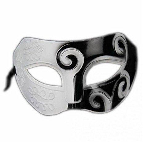 (Inception Pro Infinite Maske - Schwarz und Weiß - Pierrot - Karneval - Halloween - Frau - Dekorationen)