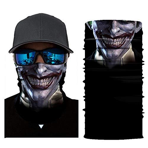 ields Multifunktionstuch Maske Clown Halstuch Halloween Kostüme Motorrad Ski Jagen Fahrrad (D) ()