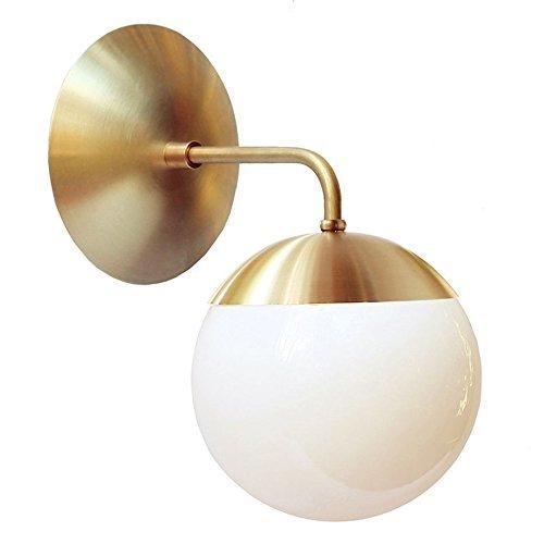 GBYZHMH Nordic Kupfer moderne LED-Wandleuchte Home Innenbeleuchtung Badezimmer Spiegel Licht Glas Ball Wandleuchten Lampen (Spiegel-ball-licht)
