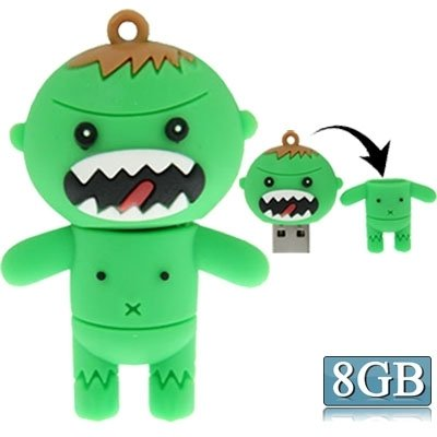 Generic Cartoon Style Silicone Usb2. 0 Flash Disk, Special For All Kinds Of Festival Day Gifts, Green (8gb)