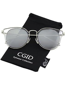 CGID MJ86 De Moda De La Mujer Doble Círculo UV400 Mirrored Lente Polarizada Gafas De Sol