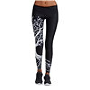 Zarupeng Damen Druckten Sport Yogahose, Lange Stretch Traininghose Fitness Legging Athletische Hosen