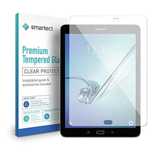 smartect Panzerglas für Samsung Galaxy Tab S3 9.7 - Bildschirmschutz mit 9H Härte - Blasenfreie Schutzfolie - Anti Fingerprint Panzerglasfolie