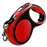 NYJ Hundeleine lange ausziehbar und einziehbar mit reflektierenden Sicherheitsstreifen und gummiertem Griffgriff flexible Verlängerungslänge für kleine und mittlere Hunde (größe : 5m(60kg))