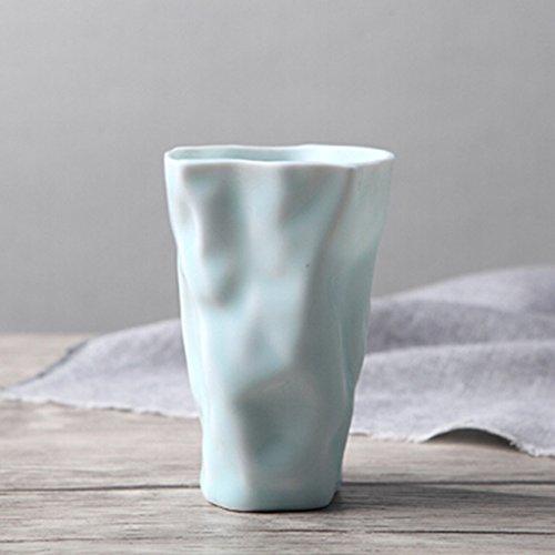 Creative petites tasses en céramique fraîches simples tasses de couple tasses à la main tasse à café de mode tasse de lait de petit déjeuner tasse de bureau à domicile (Color : Blue)