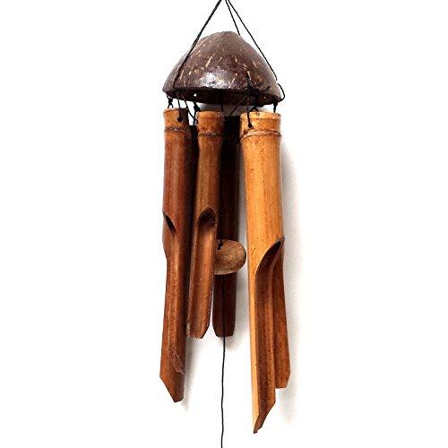 Natur Bambus & Kokos Windspiel, (, klein) -