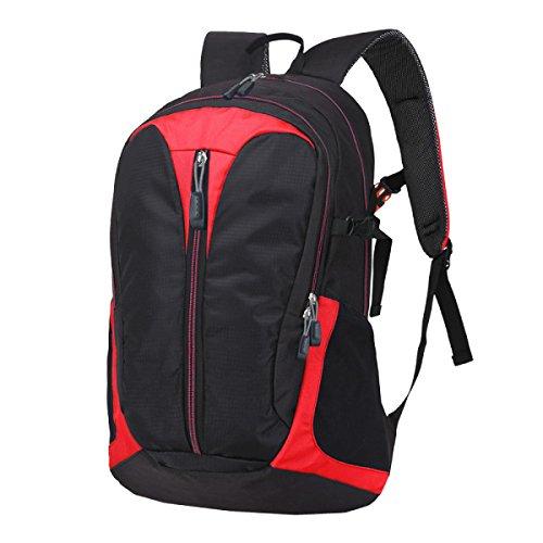 Xin Shu Spalle Esterne Alpinismo Zaino Sportivo Borsa A Tracolla Escursionismo Sacchetto Bagagli Borsa Studentesca. Multicolore Red