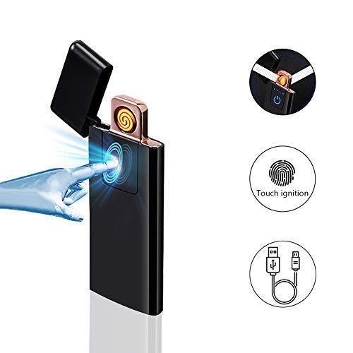 ASANMU Mechero USB, Pantalla táctil, sin Llama, Recargable por USB, para Cocina,...