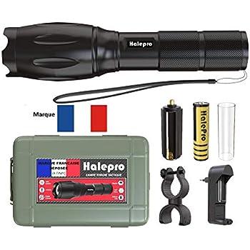 Lampe Torche LED Puissante USB Rechargeable Militaire Ultra-Brillante IP67Etanche Torche La puce LED CREE XPG2 S3 800 lumens 5 Modes d/éclairage Pour M/énage//le Camping//La Randonn/ée//Durgence