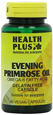 Health Plus Evening Primrose Oil 450mg Omega-6 Supplement - 60 Gelatin Free Capsules from Health + Plus Ltd