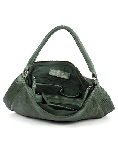 FREDsBRUDER Cut it Vintage Megapixel Shopper Tasche Leder 35 cm olive