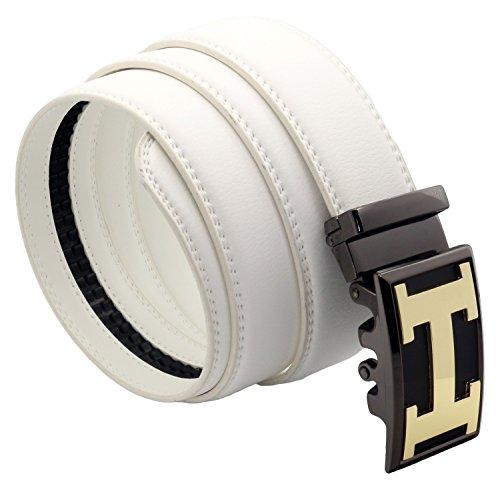 QHA - Cinturón - para hombre Gold White 102/117 cm