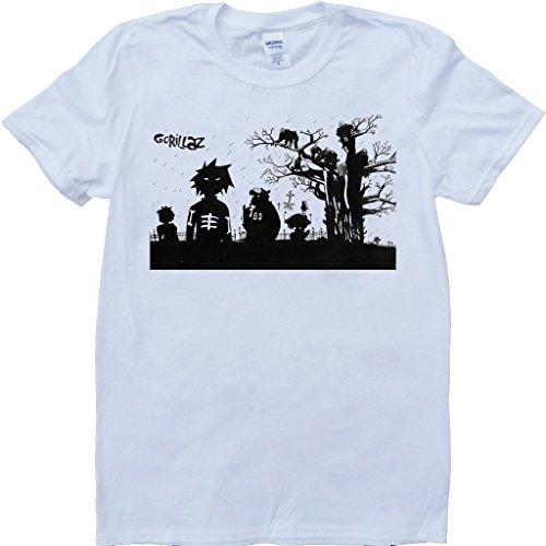 Die Zu Fuß Tot Weiß Benutzerdefinierten Gemacht T-Shirt Weiß