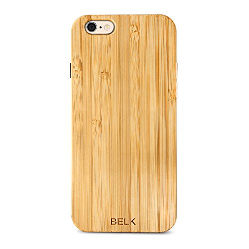 Custodia per iPhone 6/6S, Custodia in legno, BELK 2nd Gene Flex Hybrid [facile scatto] casi in legno con dura BLE rinforzato PC–Cuscino per iPhone 6s/iphone 64.7Inch, Legno, Cherry, iPhone 6 / 6s Bamboo