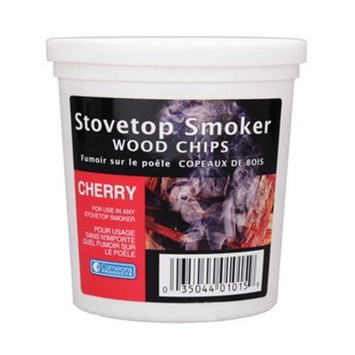Wood Smoker Chips - Cherry Flavored Wood Chips (1 Pint) by Camerons Products