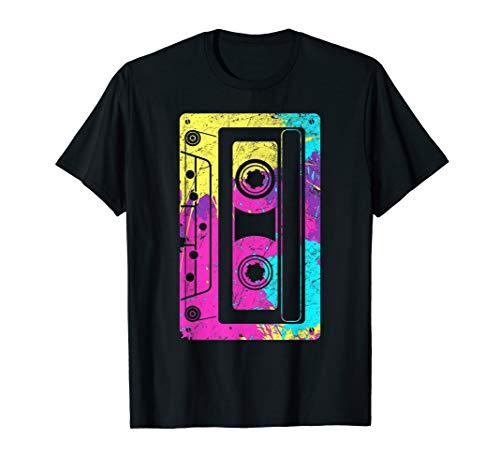 Vintage Retro Musik kassette Mixtape 80er 90er Jahre T-Shirt (80er Jahre Punk Rock)
