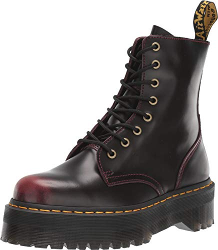 Dr. Martens Women's Jadon Arcadia Platform Leather Lace Up Boot Cherry Red Size 8 -