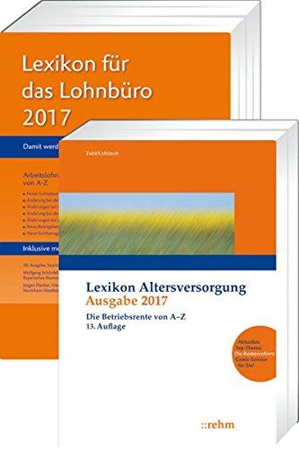 Buchpaket Lexikon für das Lohnbüro und Lexikon Altersversorgung 2017