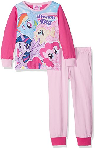 My Little Pony Team, Ensemble de Pyjama Fille, Pink (Dark Pink), 5-6 Ans