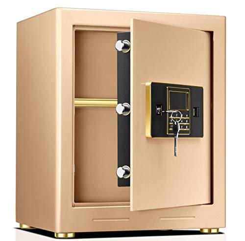 Nlne Schmuck Gold Digital Safe Fire Fire Elektronischer LCD-Passwort Safe Vier Öffnungsmethoden Lcd-digital-safe
