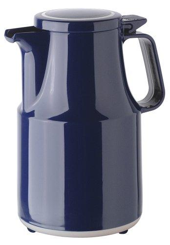 Helios Thermoboy Kunststoff-Isolierkanne mit Klappdeckel 0,6 l blau spülmaschinenfest - Thermoskanne Kolben Kleinen