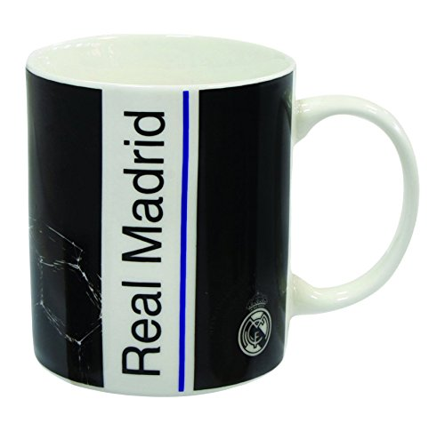 Mercury Taza, Estampado Real Madrid, Porcelana, Multicolor, 15x10x5 cm