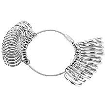 Metalen ringmeter, vingermeetgereedschap Ringmaten Vingermeter, ringdoorn voor montage van trouwringen Sieradenmaat meetgereedschap(Ring)