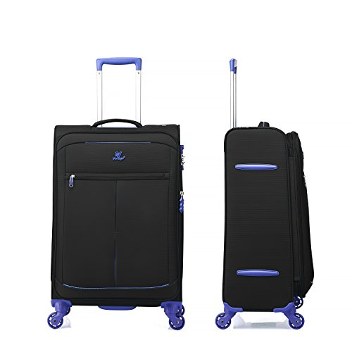 "OUBO® Verage® Mercury Ultra Light Trolley Lila 2er Set M-61 cm (24"")+L-71 cm (28"") Koffer Suitcase Handgepäckkoffer Reisekoffer Marken-Qualitätsware Spitzenverarbeitung Schwarz"