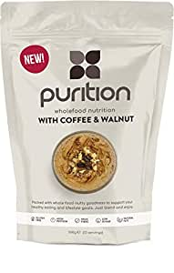 Purition Coffee & Walnut High Protein Alternative to Meal Replacement Shake