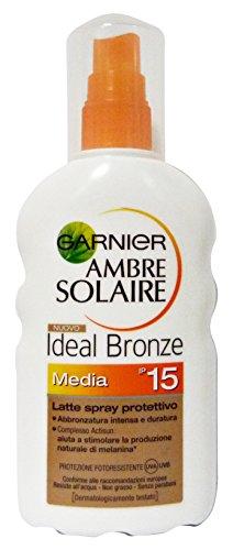 Garnier Ambre Solaire Ideal Bronze Sun Protection Milk Spray 200ml SPF15