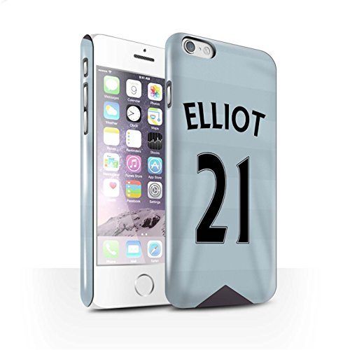 Offiziell Newcastle United FC Hülle / Glanz Snap-On Case für Apple iPhone 6S / Pack 29pcs Muster / NUFC Trikot Away 15/16 Kollektion Elliot