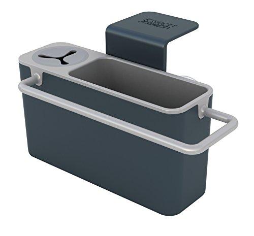 Joseph Joseph Sink-Hilfe Ordnungshelfer für das Spülbecken mit integriertem Ablauf, dunkelgrau/grau