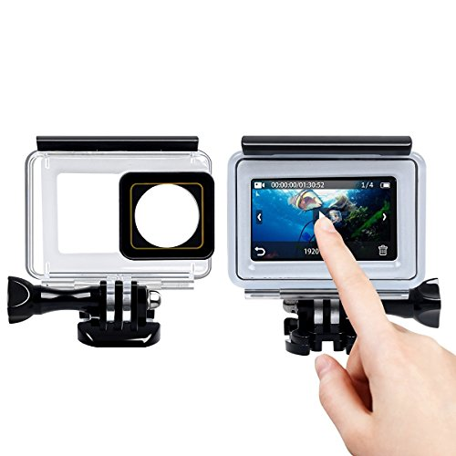 Corprit Underwater Protective Case for Xiaoyi YI 4K Sport Action Camera (Touch Screen)