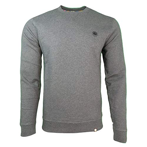 Pretty Green Loopback Sweat Grau Meliert XXL Grey Marl -