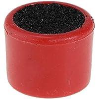 perfk Herramienta de Cuidado de Taco de Billar de Doble Cara2.2cm x 2 cm Cue Tips Stick para Mesa de Billar Cue Tip Shaper Scuffer - Rojo