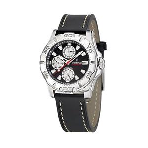FESTINA Sport 16243/6 - Reloj unisex de cuarzo, correa de piel color negro de Festina