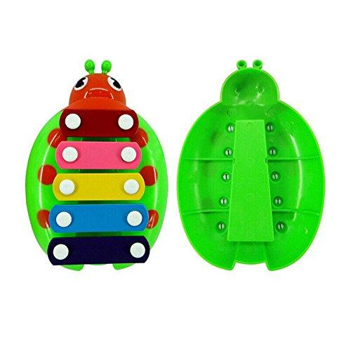 Hahuha Toy, Baby Kind Kind 5-Ton Xylophon Musikspielzeug Weisheitsentwicklung Käfer GN