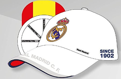 GORRA OFICIAL – REAL MADRID – BLANCO ESPAÑA ADULTO COTTON LIKE