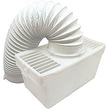 Kit universel pour sèche linge d'intérieur Aération avec flexible Blanc