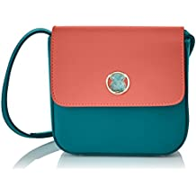 TOUS Rene Camille, Bolso Bandolera para Mujer, Varios Colores (Coral-Verde), 6.5x13.5x15.5 cm (W x H x L)