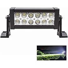 1 Pezzi 36W 3600LM Flood Luce Spot Luce Combinata Luce Faro da Lavoro Work Light 12*LED Lampada Riflettore per Veicolo di Costruzione Trattori Autocarro SUV Jeep Moto Barca Cortile e Giardino Luce di Profondità Impermeabile IP67
