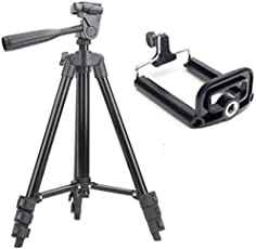 Syvo Tripod - 3120 with Mobile Clip Holder & Carry Travel Bag(Black)