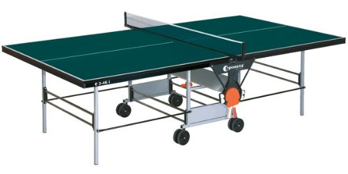 Indoor TT-Tisch Tischtennisplatte # Farbe: grün # sponeta S 3-46 i ausschließlich für den Innengebrauch (Indoor) Sportline Tischtennis - Tisch / - Platte internationales Turniermaß grüner Tischtennistisch