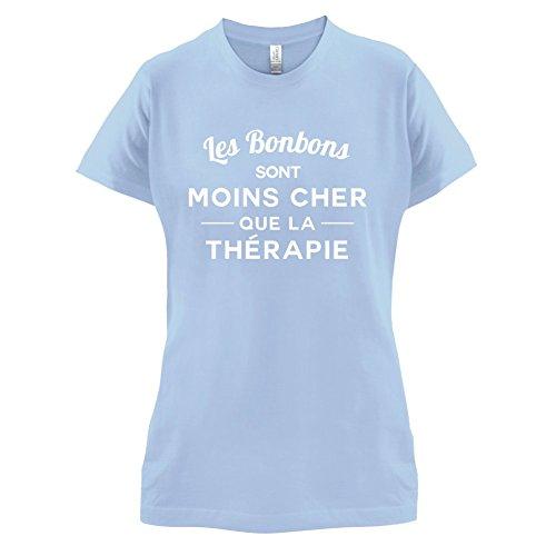 Les bonbons sont moins cher que la thérapie - Femme T-Shirt - 14 couleur Bleu Ciel