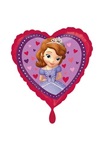 lienballon - Sofia The First, die Erste Motiv in Herz Form - 45cm - perfekte Geschenkideen zum Geburtstag Valentinstag Hochzeit, Party Dekoration Pink ()