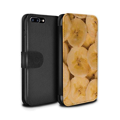 Stuff4 Coque/Etui/Housse Cuir PU Case/Cover pour Apple iPhone 7 Plus / Kiwi Design / Fruits Juteux Collection Banane