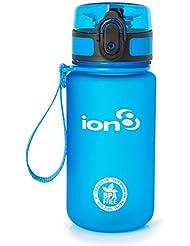 Ion8 auslaufsichere Wasserflasche / Trinkflasche, BPA-frei, Frostig blau, 350 ml