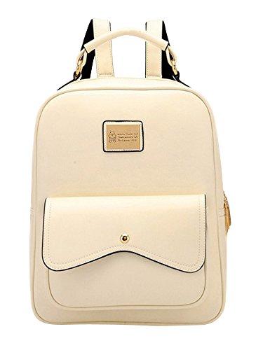 Molly Donne Stile Di Gusto Squisito Solido Colori Dello Zaino Bianco