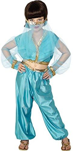 Kinder Fancy Party Arabische Prinzessin Kostüm Mädchen komplett Party (Kostüme Prinzessin Arabische Mädchen)